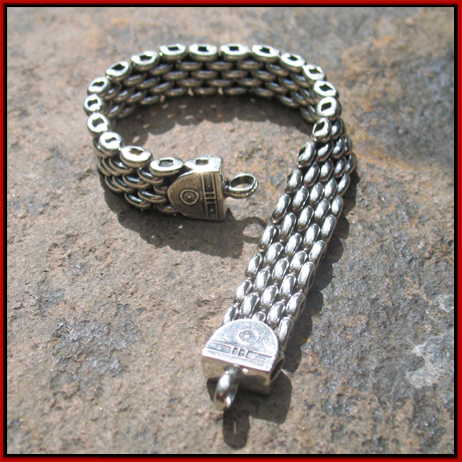 Tabra Connetor Bracelet With Charm Signed